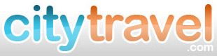 City travel logo. Hotels in cities, popular destination hotels.